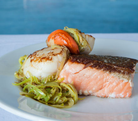 Seafood Trail Recipe Salmon With Scallops